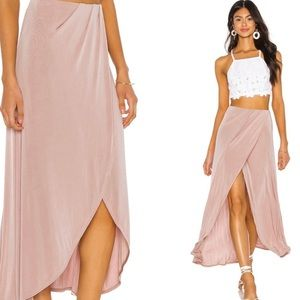 Free People Pink High Low Smoke and Mirrors Skirt